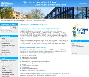 Europäisches Dokumentationszentrum EDZ an der TIB/UB
