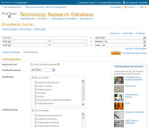 Technology Research Database