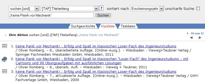 """Suche nach """"Keine Panik vor Mechanik"""""""