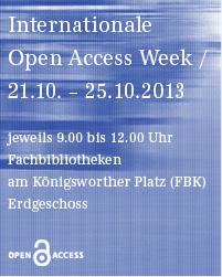 Open Access Week 2013 an der TIB/UB Hannover