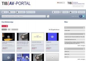 Ausblick auf das geplante TIB-AV-Portal mit dem Fachausschnitt für die Physik