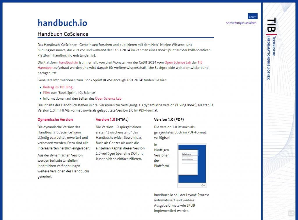 Handbuch CoScience