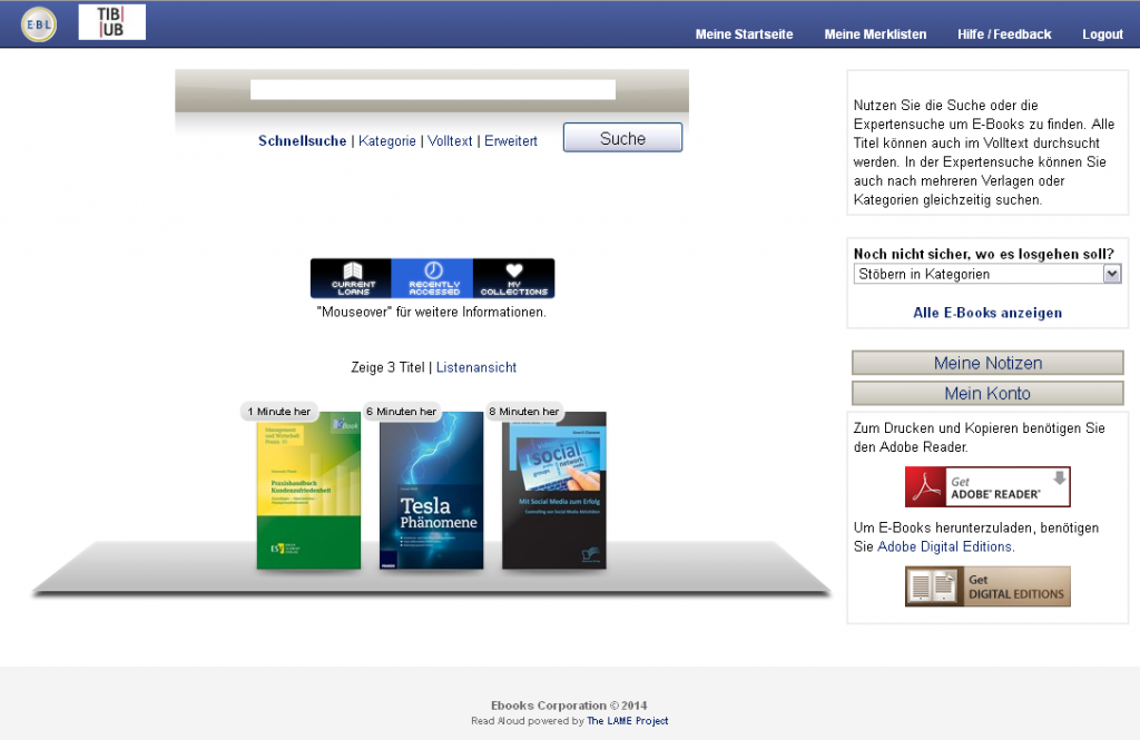 Startseite EBL Ebook Library