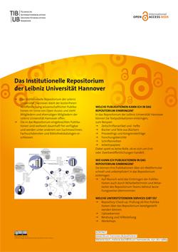 Das institutionelle Repositorium der Leibniz Universität Hannover. Poster als PDF-Datei.