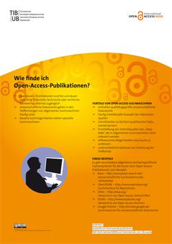 Wie finde ich Open-Access-Publikationen? Poster als PDF-Datei.