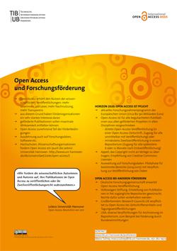 Open Access und Forschungsförderung. Poster als PDF-Datei.