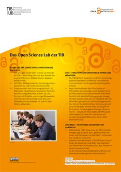 Das Open Science Lab der TIB. Poster als PDF-Datei.