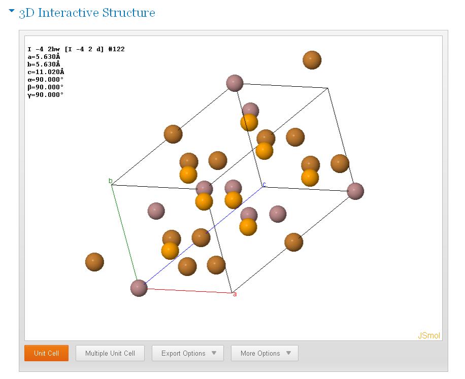 SpringerMaterials: 3D Ineractive Structure von CuGaSe2