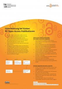 Poster als PDF: Unterstützung bei Kosten für Open-Access-Publikationen
