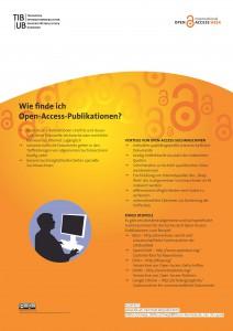 Poster als PDF: Wie finde ich Open-Access-Publikationen?