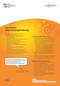 Poster als PDF: Open Access und Forschungsförderung
