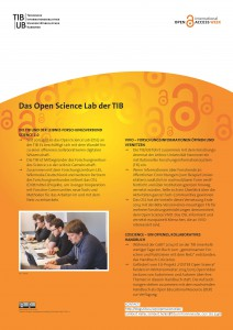 Poster als PDF: Das Open Science Lab der TIB