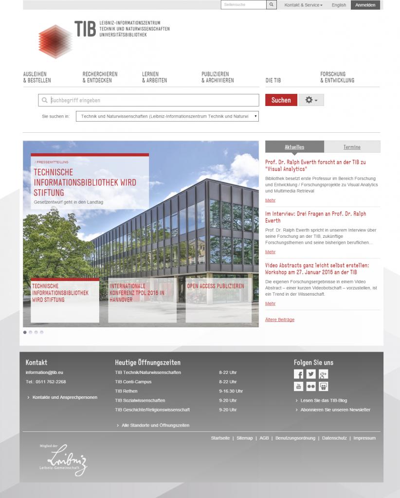 Das neue TIB-Portal