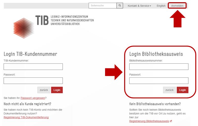 Anmelden-TIB-Portal-Bibliotheksausweis-login