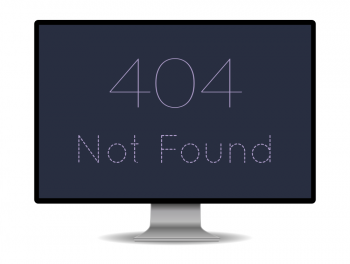 "Computerscreen showing the text: ""404 Not Found"""