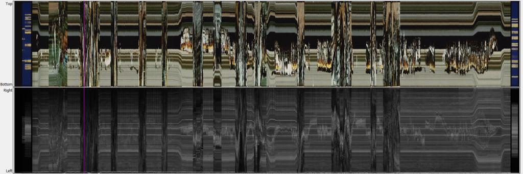 Das Horizontal Blur Panel zeigt eine druchgängig dunklen Schatten auf der rechten Seite des Films