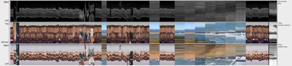 Das Panel Horizontal Blur zeigt Scharfe und Unscharfe Partien des Filmes