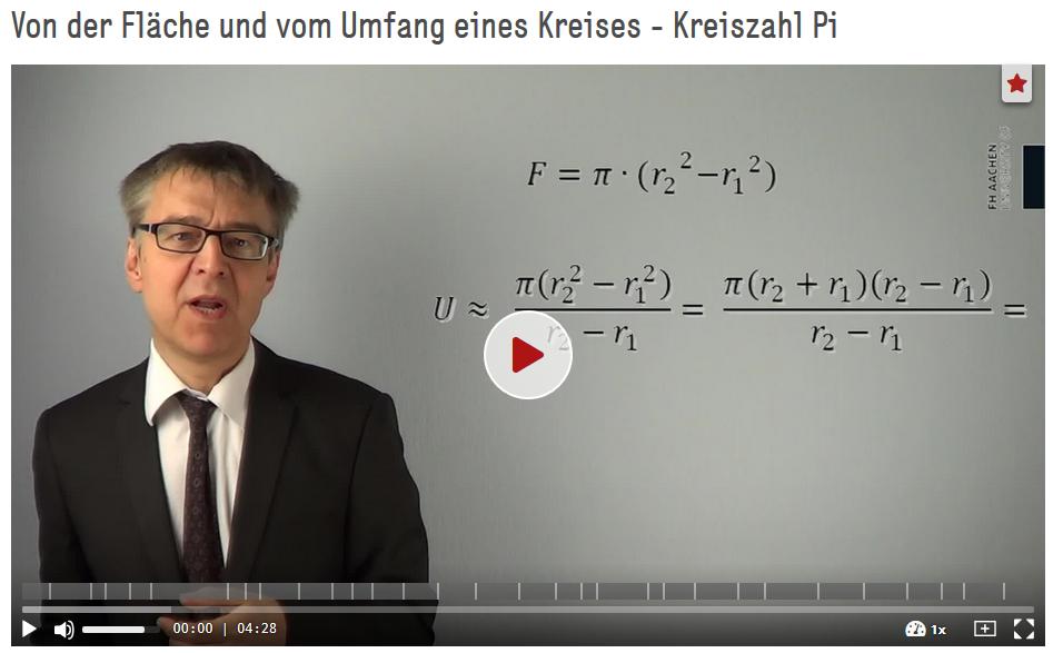 Lauth, Jakob Günter (SciFox) (2013): Von der Fläche und vom Umfang eines Kreises - Kreiszahl Pi, Folge 19, Brückenkurs Mathematik für Studienanfänger. https://doi.org/10.5446/17869
