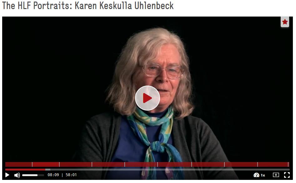 Uhlenbeck, Karen Keskulla; Pachter, Marc: The HLF Portraits: Karen Keskulla Uhlenbeck, The HLF Portraits. https://doi.org/10.5446/42461
