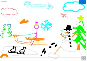 Digital gezeichnetes Bild zum Thema Winter Wonderland